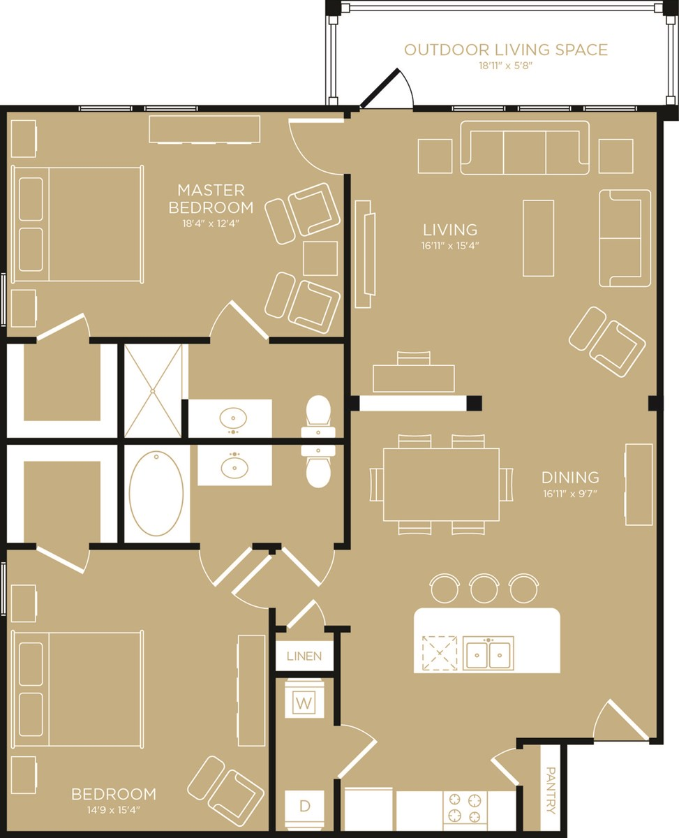 1,342 sq. ft. Serenity floor plan
