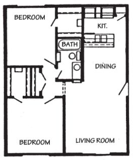 840 sq. ft. Cabo San Lucas floor plan