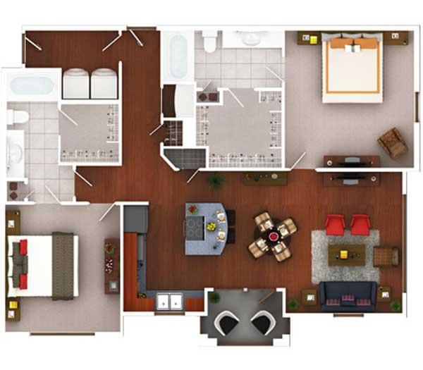 1,188 sq. ft. Bg2.2 floor plan