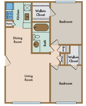 760 sq. ft. Grande floor plan