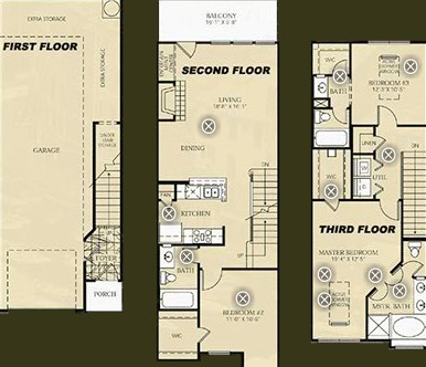1,540 sq. ft. C1 - PICASSO floor plan