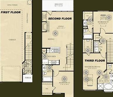 1,540 sq. ft. C1 - Picasso floor plan