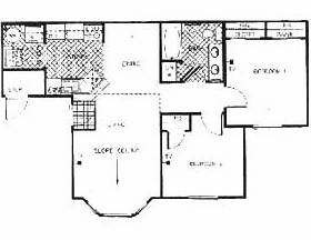 822 sq. ft. Bastille floor plan
