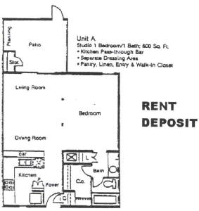 600 sq. ft. A floor plan