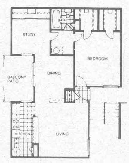 841 sq. ft. B1 floor plan