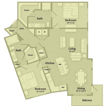 1,352 sq. ft. floor plan