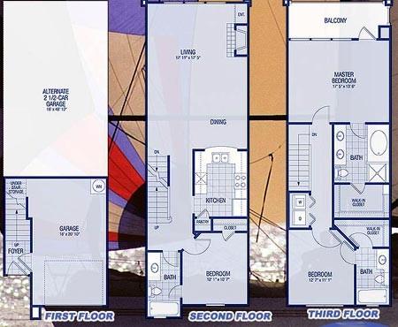 2,274 sq. ft. C1-C1A Razorfish floor plan
