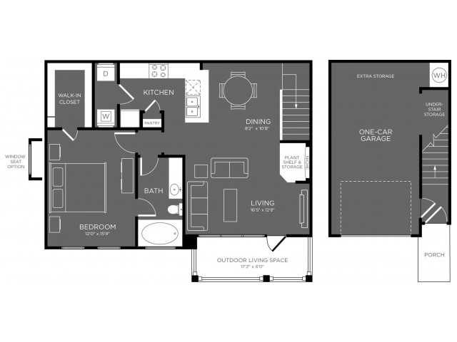 903 sq. ft. Hemlock floor plan
