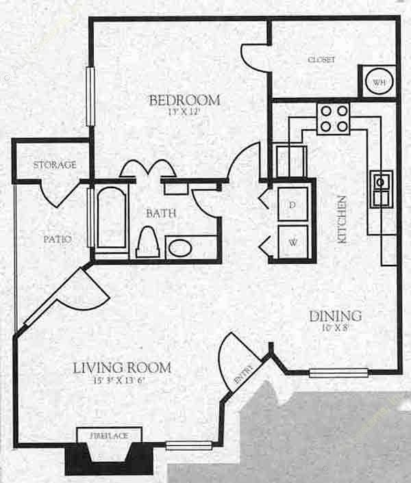 921 sq. ft. A3 floor plan
