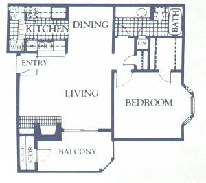 693 sq. ft. BIRCH floor plan