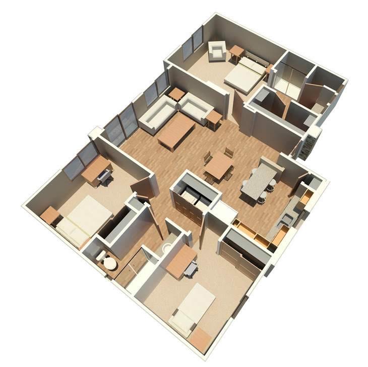 1,237 sq. ft. Haven floor plan