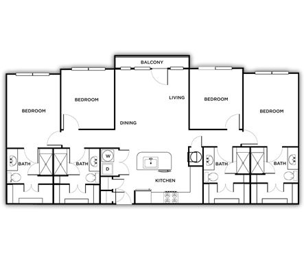 1,620 sq. ft. Rome floor plan