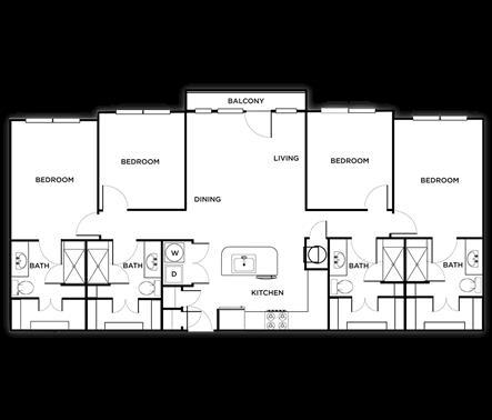 1,620 sq. ft. Rome floor plan