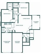 1,180 sq. ft. 60% floor plan
