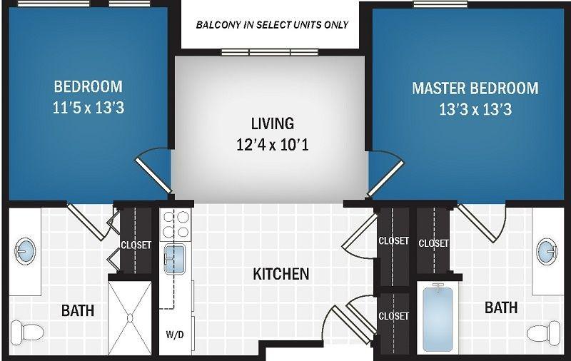 783 sq. ft. floor plan