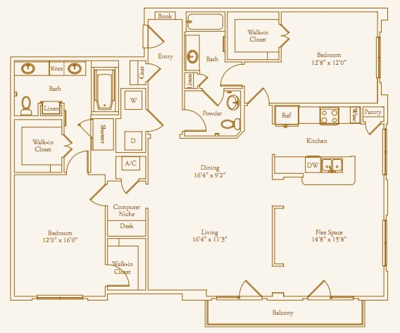 1,755 sq. ft. Inverness floor plan