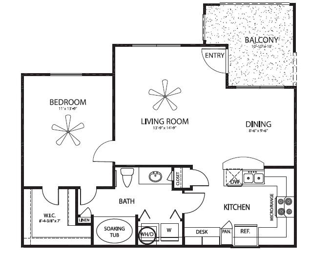 778 sq. ft. Eagle floor plan