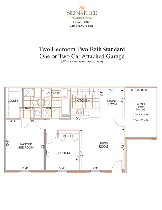 950 sq. ft. to 1,350 sq. ft. Augusta floor plan