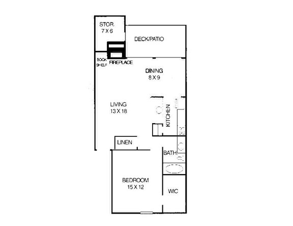 832 sq. ft. B4 floor plan