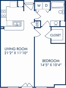728 sq. ft. C floor plan