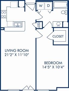 728 sq. ft. C floor plan