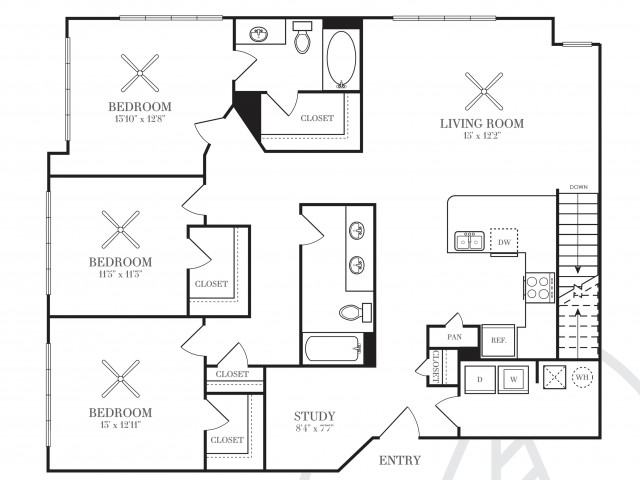 1,579 sq. ft. C1A-HC floor plan