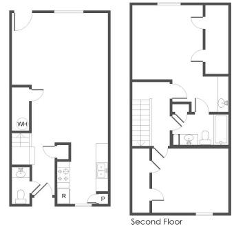 1,187 sq. ft. B2 floor plan