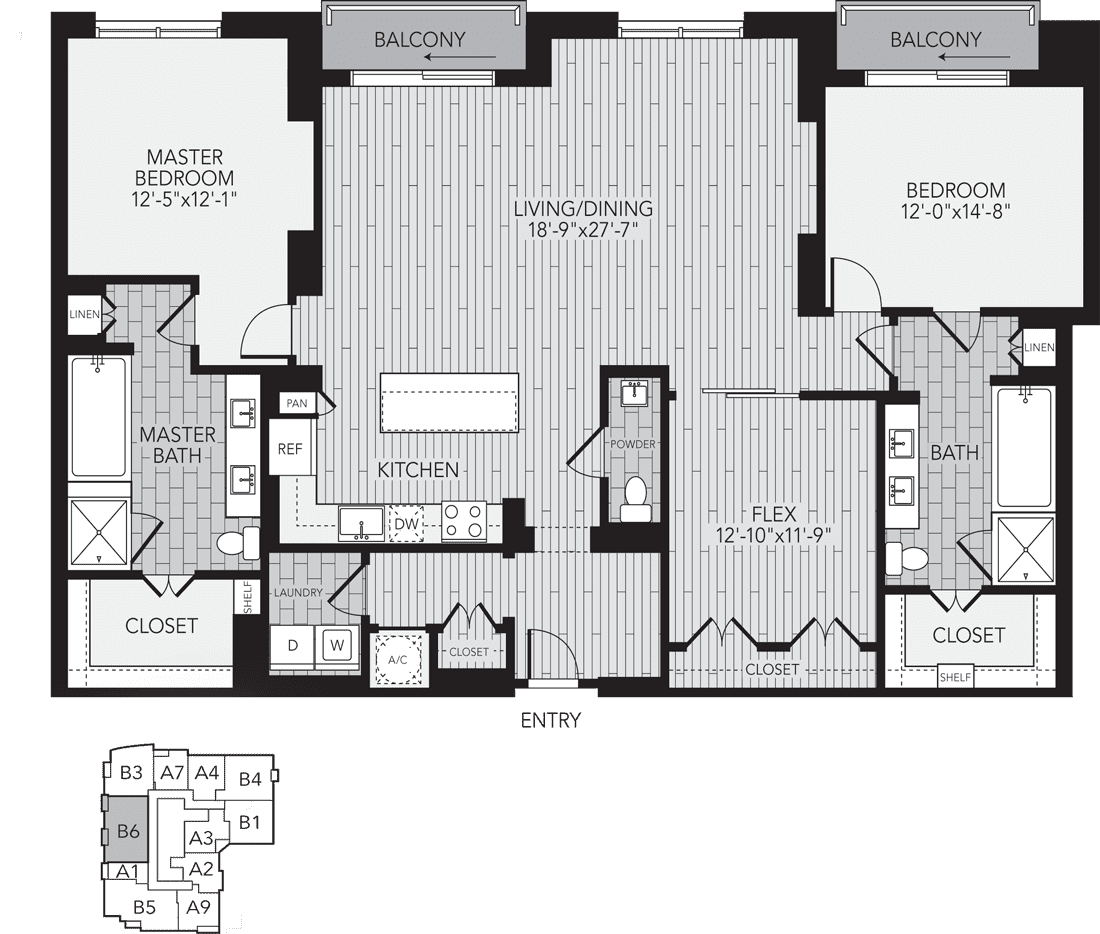 1,998 sq. ft. B6 floor plan
