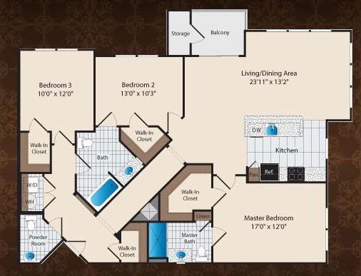 1,528 sq. ft. E1/Buckman floor plan