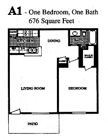 676 sq. ft. B floor plan