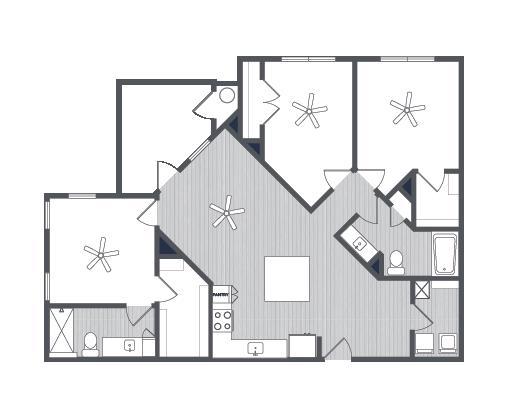 1,298 sq. ft. Venice floor plan