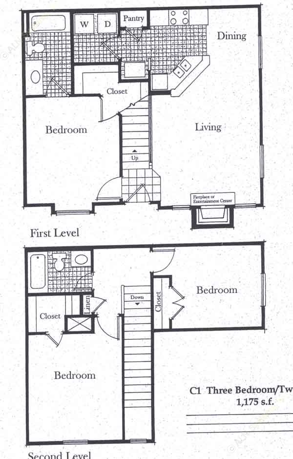 1,175 sq. ft. C1/50 floor plan