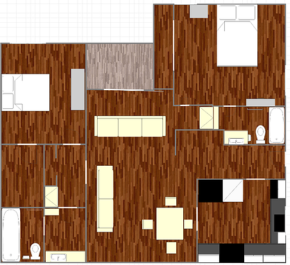 723 sq. ft. A1 floor plan