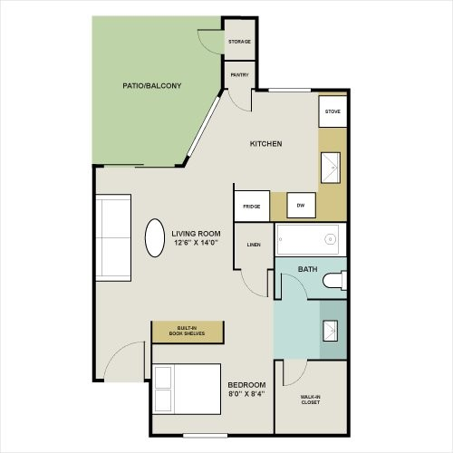 404 sq. ft. G floor plan