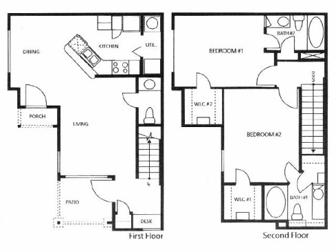 1,059 sq. ft. A1/60% floor plan