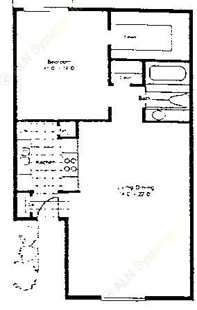 771 sq. ft. A-2/60 floor plan
