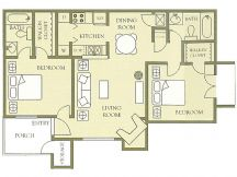 918 sq. ft. floor plan