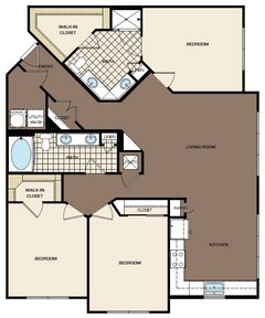 1,425 sq. ft. E1 floor plan