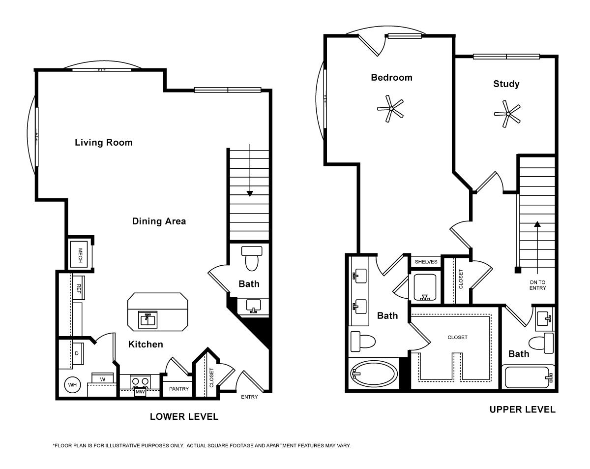 1,349 sq. ft. Verona floor plan
