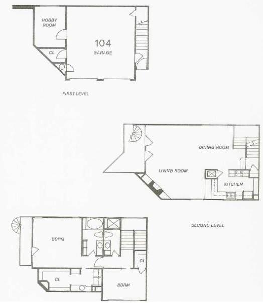 1,296 sq. ft. 106 Try-Level floor plan