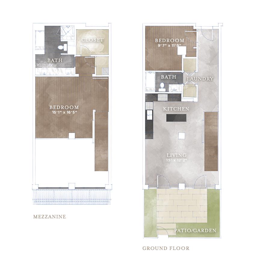 1,422 sq. ft. L6 floor plan