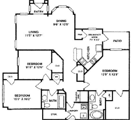 1,504 sq. ft. C1 Lower floor plan