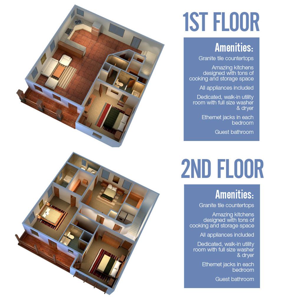 2,600 sq. ft. Vail floor plan