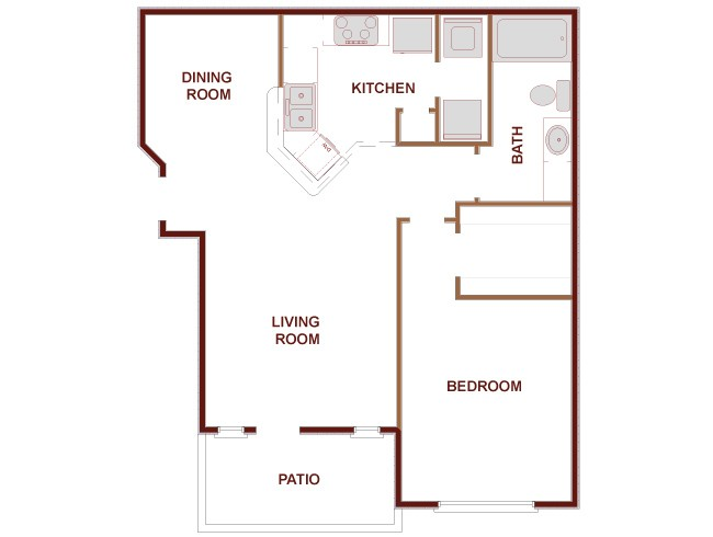 754 sq. ft. Waldorf floor plan