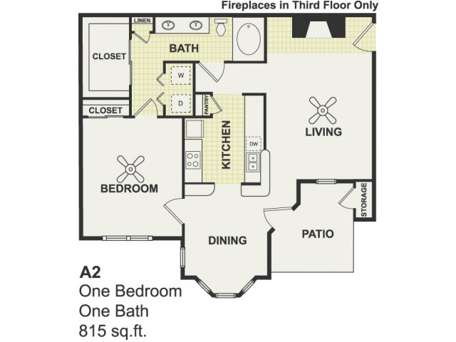 815 sq. ft. Motivate floor plan
