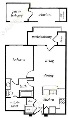 715 sq. ft. LEXINGTON floor plan