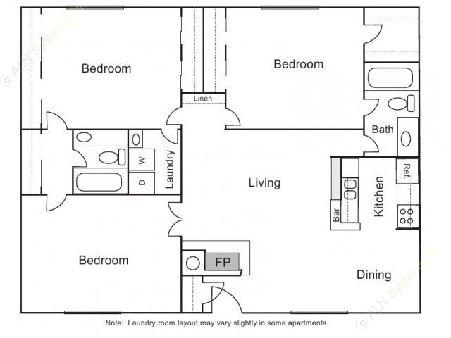 1,450 sq. ft. C-1 floor plan