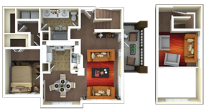 1,081 sq. ft. A2L/A3 floor plan