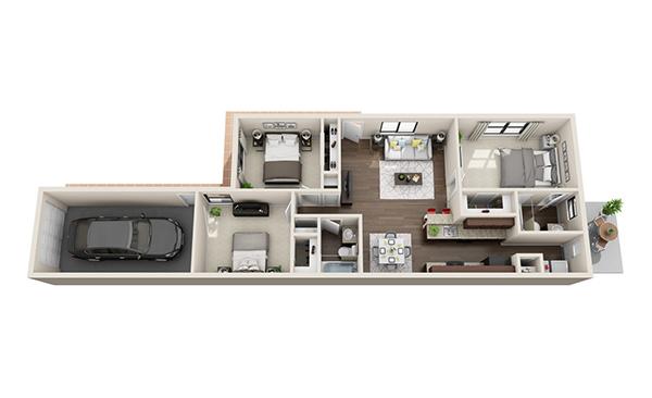 1,042 sq. ft. Felicity floor plan