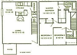 1,354 sq. ft. Cedar floor plan